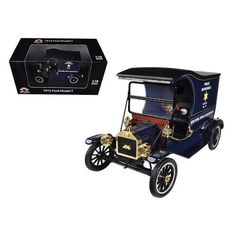 1915 Ford Model T Cargo Van NYPD 1/18 Diecast Model Car by Motorcity Classics