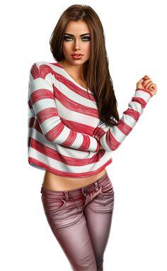 Chica Fantasy, Fantasy Girl, Fashion Art, Girl Fashion, Womens Fashion, Fashion Design, Girl Clipart, 3d Girl, Digital Art Girl