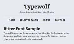 Bitter Font Sample