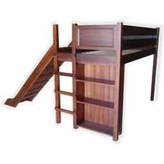 Loft Bed with Slide & Storage