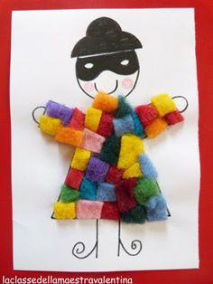 Clown Crafts, Carnival Crafts, Toddler Art, Toddler Crafts, Diy And Crafts, Crafts For Kids, Arts And Crafts, School Carnival, Pre School