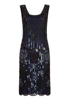 Audrey Black Navy Vintage inspired Flapper Great Gatsby Beaded Charleston Downton Abbey Bridesmaid Wedding guest Dress New Vintage Flapper Dress, Fringe Flapper Dress, Flapper Style, Vintage Dresses, 1920s Flapper, Fringe Dress, Vintage Clothing, Great Gatsby Dresses, 20s Dresses