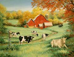 farm pictures | Linda Picken Art Studio/Rainbow Dairy Farm Barn Side