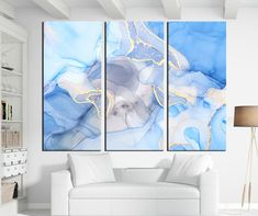 Etsy :: Your place to buy and sell all things handmade Unique Wall Art, Modern Wall Art, Large Wall Art, Blue Abstract, Abstract Canvas, Canvas Wall Art, Sunset Canvas, Large Canvas Prints, Photo Canvas