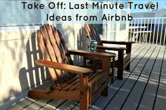 Last minute travel ideas from Airbnb - find the coolest vacation rentals and destinations! Last Minute Vacation, Last Minute Travel, Outdoor Chairs, Outdoor Furniture, Outdoor Decor, Need A Vacation, Time Travel, To Go, Vacation Rentals
