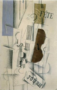 Georges Braque: Violin and Newspaper (Musical Forms), Braque held a longtime, well known competition with Picasso. Pablo Picasso, Picasso And Braque, Cubist Artists, Cubism Art, Alberto Giacometti, Georges Braque Cubism, Synthetic Cubism, Francis Picabia, Philadelphia Museum Of Art