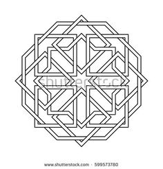 Find Islamic Pattern Vector Geometric Lattice Mandala stock images in HD and millions of other royalty-free stock photos, illustrations and vectors in the Shutterstock collection. Thousands of new, high-quality pictures added every day. Geometric Mandala, Geometric Patterns, Geometric Designs, Mandalas Drawing, Mandala Coloring Pages, Vector Pattern, Pattern Art, Design Lotus, Motifs Islamiques