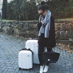 black  white  gray  #onrepeat // luggage from @calpak  @liketoknow.it www.liketk.it/24ILG #liketkit by somewherelately
