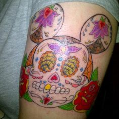Day of the dead Mickey. Found it while looking for new tattoo ideas