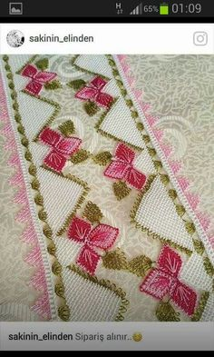 This Pin was discovered by HUZ Needle Lace, Lace Making, Needlework, Diy And Crafts, Bohemian Rug, Embroidery, Quilts, Blanket, Ideas