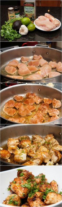 Quick Lime Cilantro Chicken ~ Add some fresh flavors of lime and cilantro to chicken! I might even try this with some shrimp!!