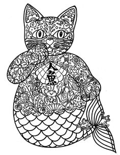 89 Meilleures Images Du Tableau Coloriage Mandala Chat Coloriage