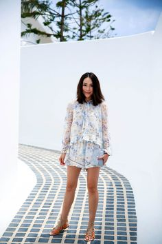 Wearing Zimmermann Playsuit, Cornetti Sandals and Le Spec Sunglasses | The Tia Fox