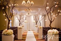 A portion of the Montclair ballroom decorated for the ceremony. Beautiful!