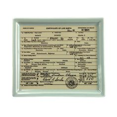 Obama Birther Certificate Tray - LOL! I think I found a Christmas present for Mom!