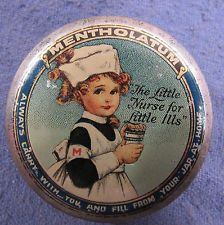 Mentholatum Co. Inc. Founded in 1889 by an American Albert Alexander Hyde for nonprescription medical, know for Mentholatum ointment, lip care and deep heat rub. It was bought out by a Japanese company in 1988.