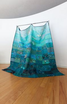 Quilt   large queen size   ocean rain  Made to by btaylorquilts, $890.00