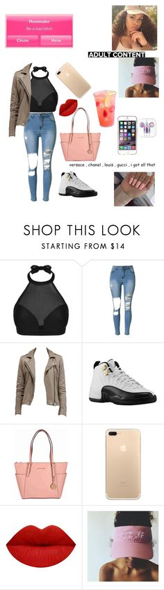 """""""baddie"""" by fashionparadiseee ❤ liked on Polyvore featuring Jewels + Grace, Retrò, Michael Kors, cutekawaii, Agent 18 and Hot Topic"""