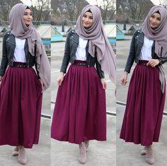 Modern Hijab Fashion, Hijab Fashion Inspiration, Muslim Fashion, Modest Fashion, Skirt Fashion, Fashion Outfits, Hijab Style Dress, Hijab Look, Casual Hijab Outfit