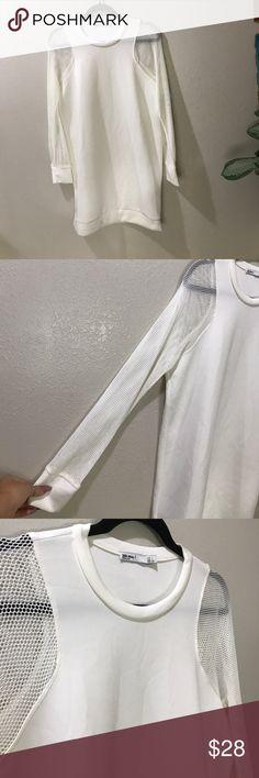 Zara Special T DRESS WHITE L MESH NEOPRENE STYLE Super cute dress by Zara Zara Dresses