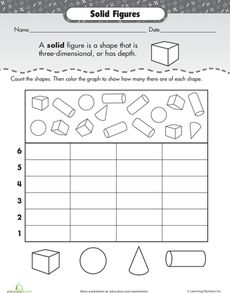 three dimensional shapes and graphing