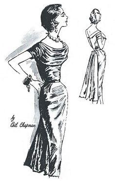 f4c5b257890 1958 Ladies Ceil Chapman Cocktail Dress 1950s Fashion