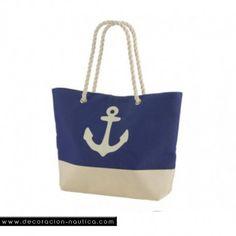 94951f68b0ca7 BOLSA PLAYA Pack de 3 estupendas bolsa playa náuticas a rayas blanca y azul  decorada con