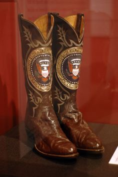 Ronald Reagan's Tony Lama boots - Harry S. Truman Presidential Museum and Library Tony Lama Boots, Cowboy And Cowgirl, Cowboy Boot, The Frye Company, Charro, Western Boots, Western Style, Justin Boots, Leather Boots