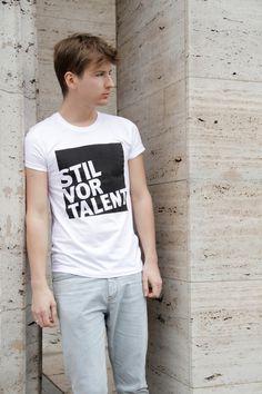 "Shirt ""Stil vor Talent"" // Shirt ""Style before talent"" by workaholic via DaWanda.com"