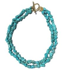 Double Strand Turquoise Necklace | Only available at Peyton William. www.peytonwilliam.com