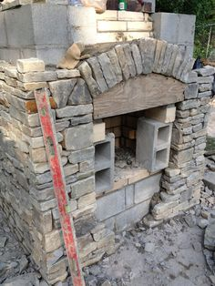 We are a little over a week into Melrose's backyard project and we have made a good bit of progress, so I thought it was a good time to shar. Rustic Outdoor Fireplaces, Outdoor Fireplace Plans, Outside Fireplace, Outdoor Fireplace Designs, Backyard Fireplace, Fire Pit Backyard, Backyard Pavilion, Backyard Patio Designs, Backyard Projects