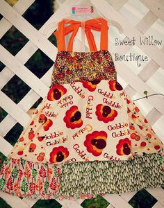 Hey, I found this really awesome Etsy listing at https://www.etsy.com/listing/167756022/fall-turkey-applique-dress