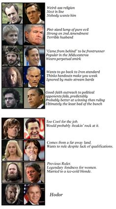 Game of Thrones vs. Elections - oh, how I wish I had seen this around election time...still funny now though