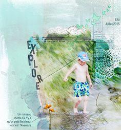 Clin d'Oeil Design scrap digital et photo: Aventure dans le ruisseau