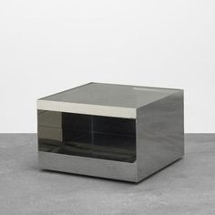 Joseph d'Urso - Low rolling table, pair.  Sidetables, Master Bedroom