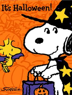 It's Halloween! Snoopy & Woodstock