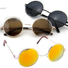 Brand New Unisex Fashion Retro Sunglasses Eyewear Vintage Style Casual Tortoise Frame Lens Round Glasses…