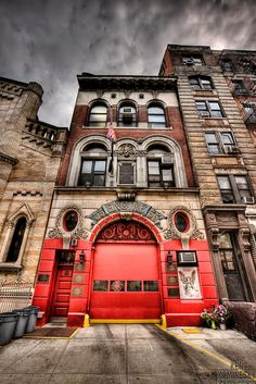 Some of the Fire Stations in NYC are so cool. FDNY Engine Company Little Italy. Fire Dept, Fire Department, Nyc, Fire Hall, Voyage New York, Image New, Manhattan, Little Italy, City That Never Sleeps