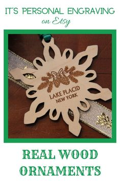 Beautiful wooden snowflake Christmas Tree Ornament can be personalized any way you want! Perfect gift for anyone on your list, for Secret Santa Gift, and for Ornament Exchange Party. They make awesome Party Favors for weddings too! #personalizedornament #woodenornament #woodornament #snowflakeornament #christmasdecor #treedecor #christmasgifts #ornamenstasgifts #secretsantaexchange #giftexchange #stockingstuffers #forfamilies #forfriend #foremployee #forspecialoccasion #uniqueornaments