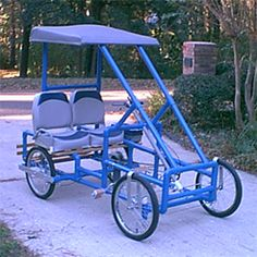 The Sidekick PVC pipe car is capable of carrying up to 400lbs. Six speed duel pedal drive. Can be made electric or gas powered.