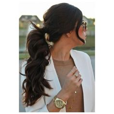 29 Ways to Spice up Your Ponytail ❤ liked on Polyvore featuring accessories, hair accessories and hair