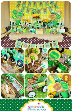 Tractor Birthday - John Deere Party Printable set by Amanda's Parties To Go