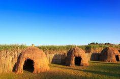 Authentieke hutten in Swaziland