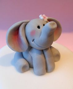 Fondant Elephant @Tasha Adams Adams Adams Adams Adams Adams Adams Mesic i can see your kid having this on their birthday cake