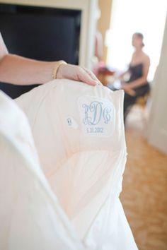 monogrammed dress patch | Kellie Kano
