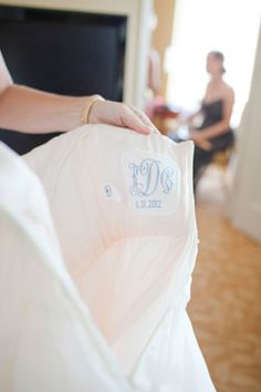 Initial Impressions wedding gown label shown in the Southern Weddings Blog  http://iloveswmag.com/2012/10/25/classic-north-carolina-wedding-by-kellie-kano/