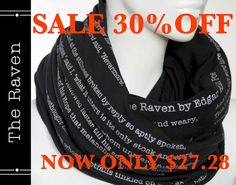The Raven poem on the scarf  Straight Scarf  by LiteratiClub, $27.28 GO RAVENS!