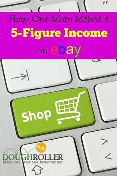 Ever wonder how to start an online store? Learn how this mom makes a 5-figure income on eBay in her spare time. Making Money, Making Money ideas, Making money online
