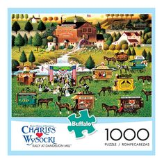 Buffalo Games 1000-pc. Charles Wysocki Rally at Dandelion Mill Jigsaw Puzzle, Multicolor
