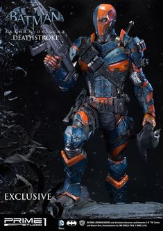 Sideshow Collectibles and Prime 1 Studio are proud to present Deathstroke from Batman: Arkham Origins. All statues are a team effort. Dc Deathstroke, Deathstroke The Terminator, Character Drawing, Comic Character, Arkham Games, Hearly Quinn, Comic Art, Comic Books, Batman Arkham Origins